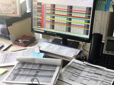 Schreibtisch von Frau Kabitzke vor dem Einsatz von TIMEOS
